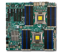 Серверная материнская плата Supermicro Socket2011 X9DR3-LN4F+